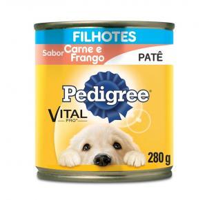 Ração Úmida Pedigree Lata Patê para Cães Filhotes - Carne e Frango 280g