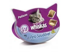 Petisco Whiskas Temptations Pelo Saudável Para Gatos Adultos 40 g