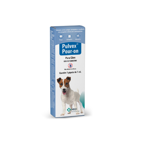 Antipulgas e Carrapatos Pulvex Pour-On para Cães 1ml