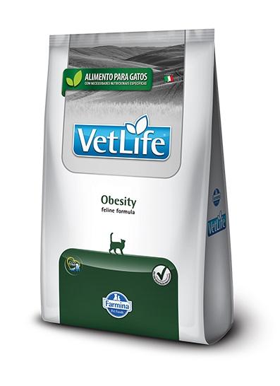 Ração Farmina Vet Life Natural Obesity para Gatos Adultos Obesos 2kg