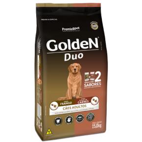 Ração Golden Duo para Cães Adultos Frango e Seleção de Carnes 15kg