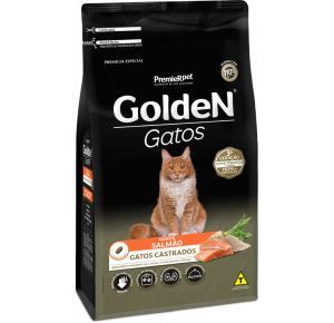 Ração Golden para Gatos Adultos Castrados Salmão 10.1kg