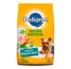 Ração Pedigree Equilíbrio Natural para Cães Adultos de Raças Pequenas 15kg