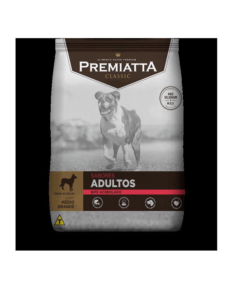 Ração Premiatta Classic Bife Acebolado para Cães Adultos de Raças Médias e Grandes 15kg