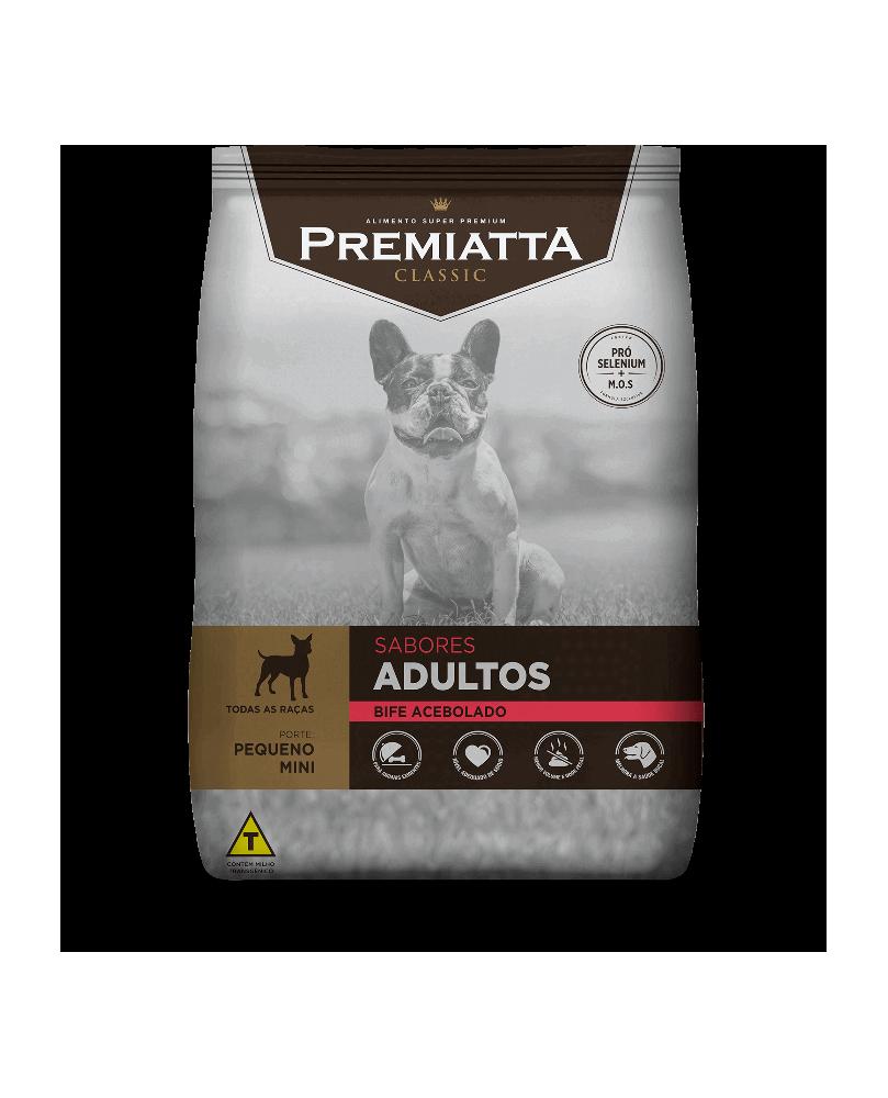 Ração Premiatta Classic  Bife Acebolado para Cães Adultos de Raças Pequenas 3kg