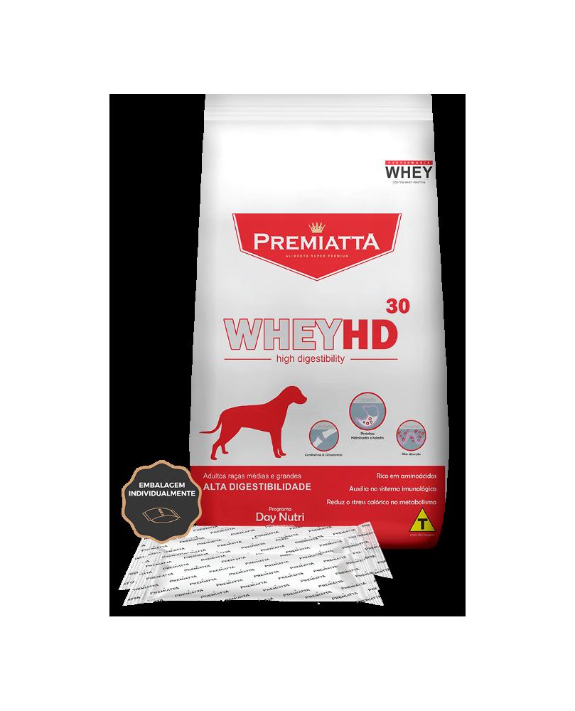 Ração Premiatta WheyHD para Cães Adultos de Raças Médias e Grandes 12kg