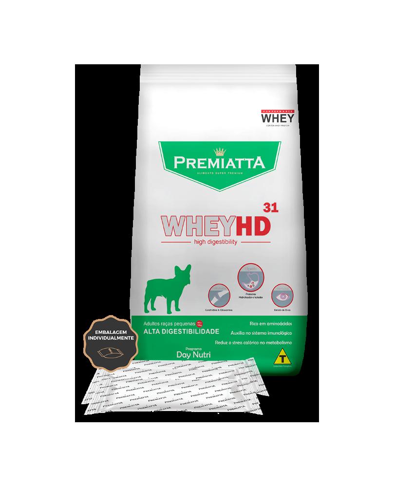 Ração Premiatta WheyHD para Cães Adultos de Raças Pequenas 3kg