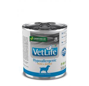 Ração Úmida Farmina Vet Life Hypoallergenic Peixe e Batata para Cães 300g