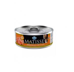Ração Úmida Lata Matisse para Gatos Mousse Frango 85g