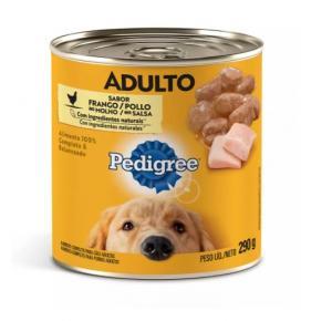 Ração Úmida Pedigree Patê Lata para Cães Adultos Sabor Frango 290g