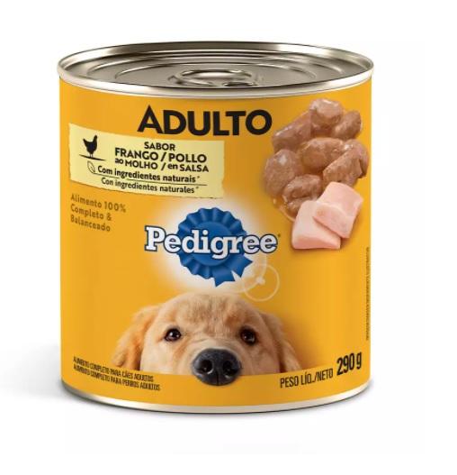 Ração Úmida Pedigree Patê Lata para Cães Adultos Sabor Frango - 290g