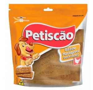 Snack Petisquinho Para Cães Bifinho Sabor Frango 500g