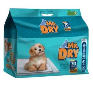 Tapete Higiênico Mr Dry Para Cães 60x60 - Com 30 Unidades