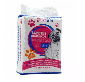 Tapete Higiênico Pet Like Good Pads Slim 80x60 para Cães 30 Unidades
