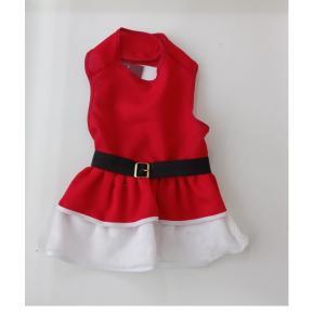 Vestido  de natal para cães chickão - M 33x64cm