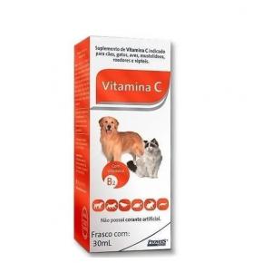 Vitamina C Para Cães, Gatos, Aves, Roedores - 30ml Provets